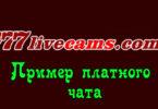 Пример платного чата на 777LIVECAMS.COM